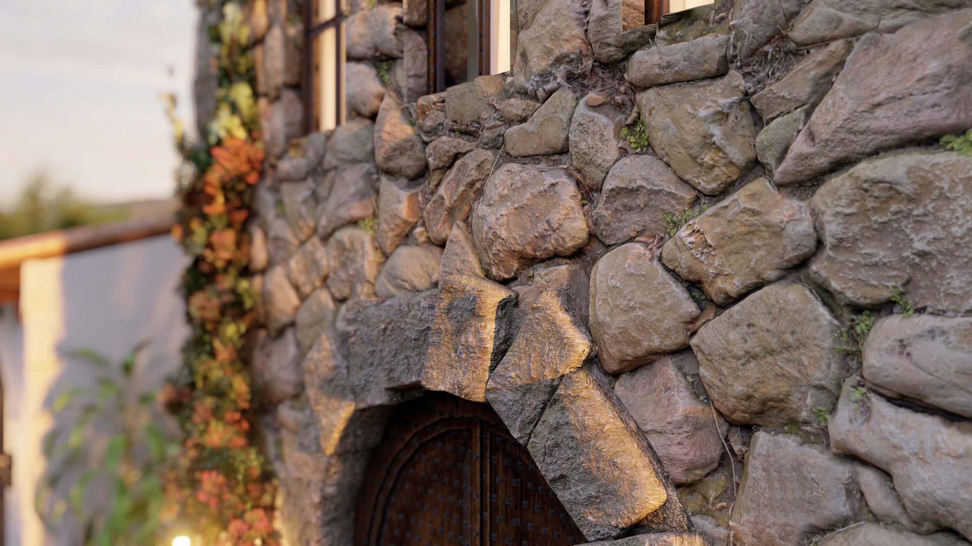 Primo piano di Rock Wall |  Software di rendering 3D Lumion 10.3