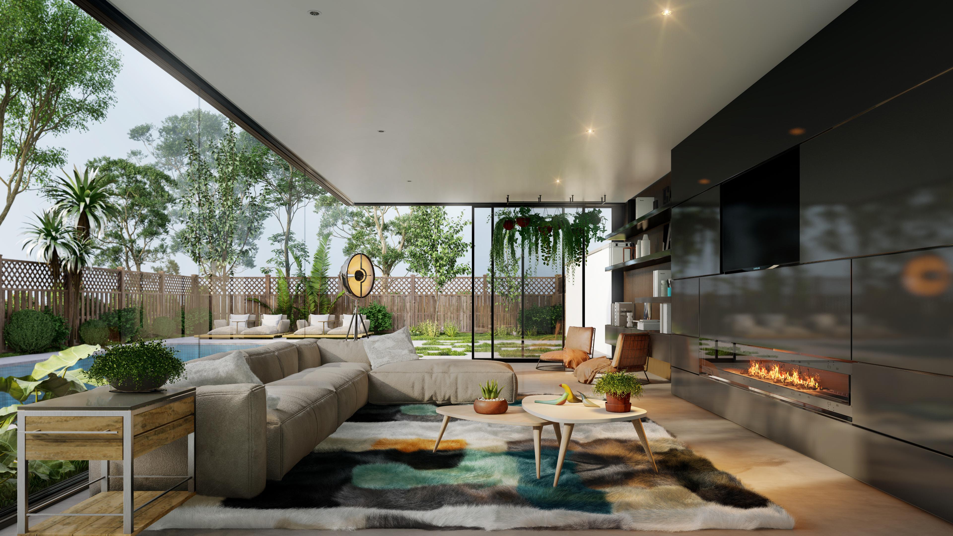 Lumion 10 Living Room Interior 3D Rendering