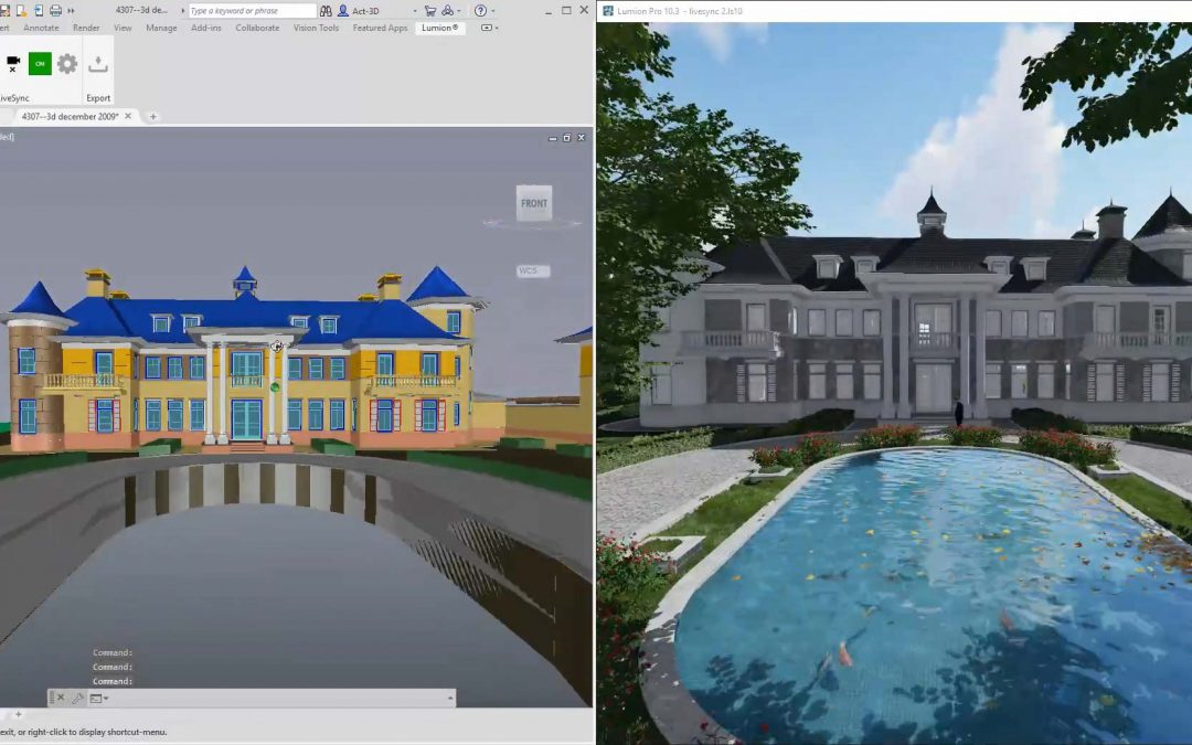 Enhance your real-time rendering with LiveSync for AutoCAD