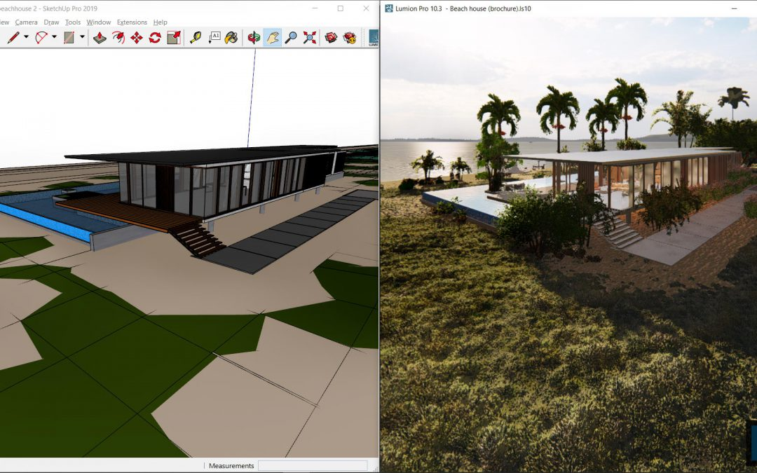 Design development with LiveSync real-time rendering