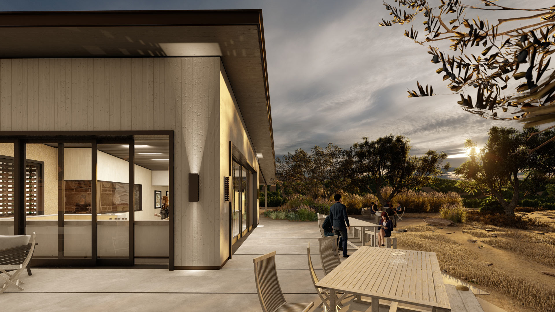Winery image from the outside | Lumion rendering