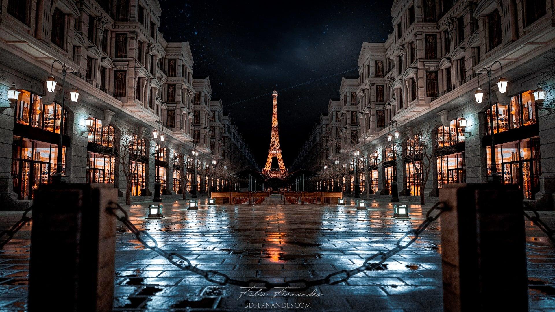 Paris Scene, rendered in Lumion 11 by Fernando Fernandes