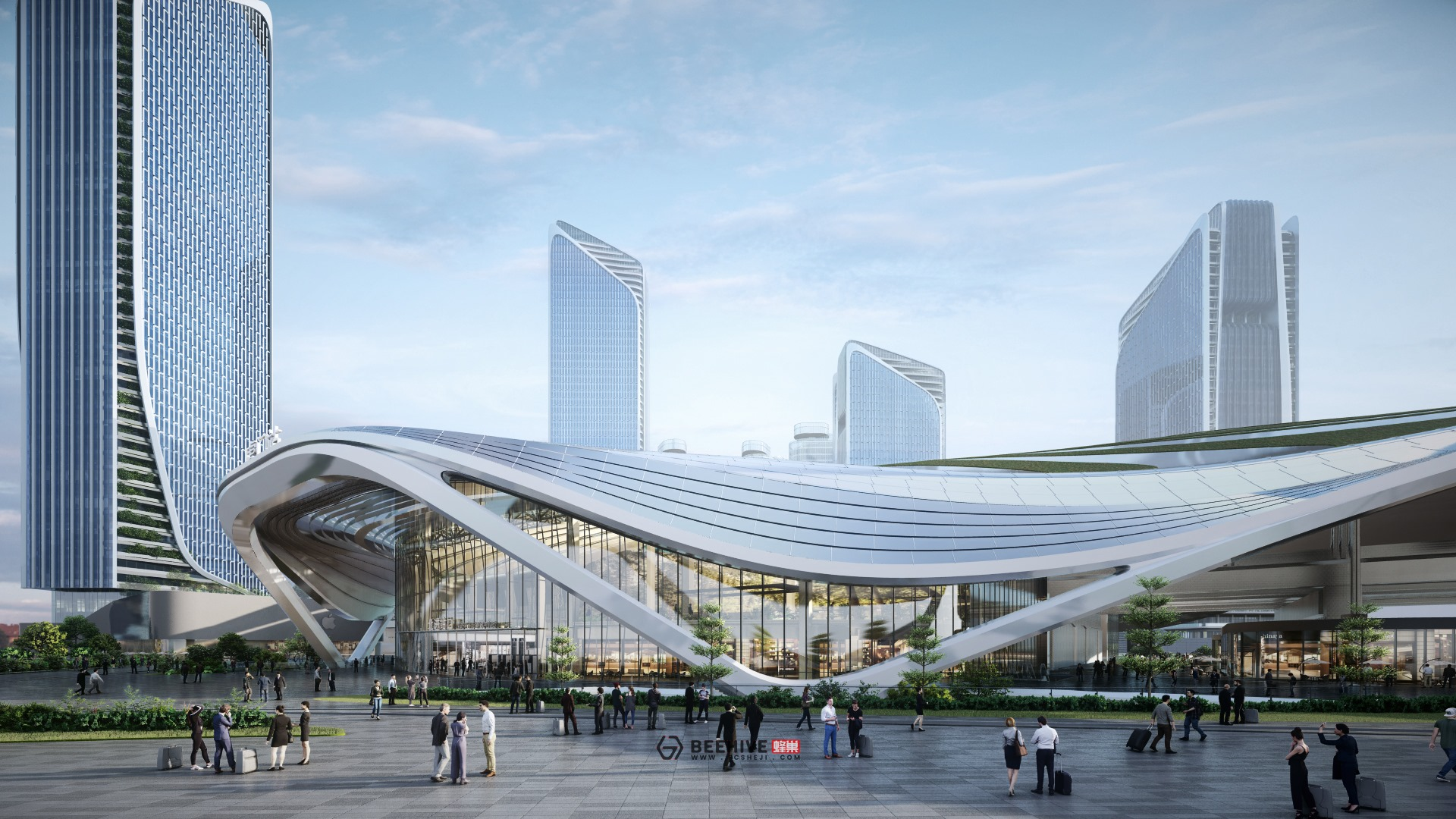 Humen High Speed Rail Station Expansion Project Master Plan, rendered in Lumion 10 by Beehive.