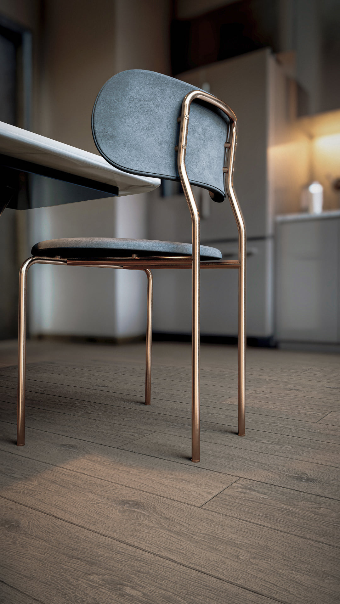 Chair on wooden floor, rendered in Lumion 11 by 3D Fernandes