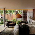 Sunny Bedroom Interior Rendered in Lumion