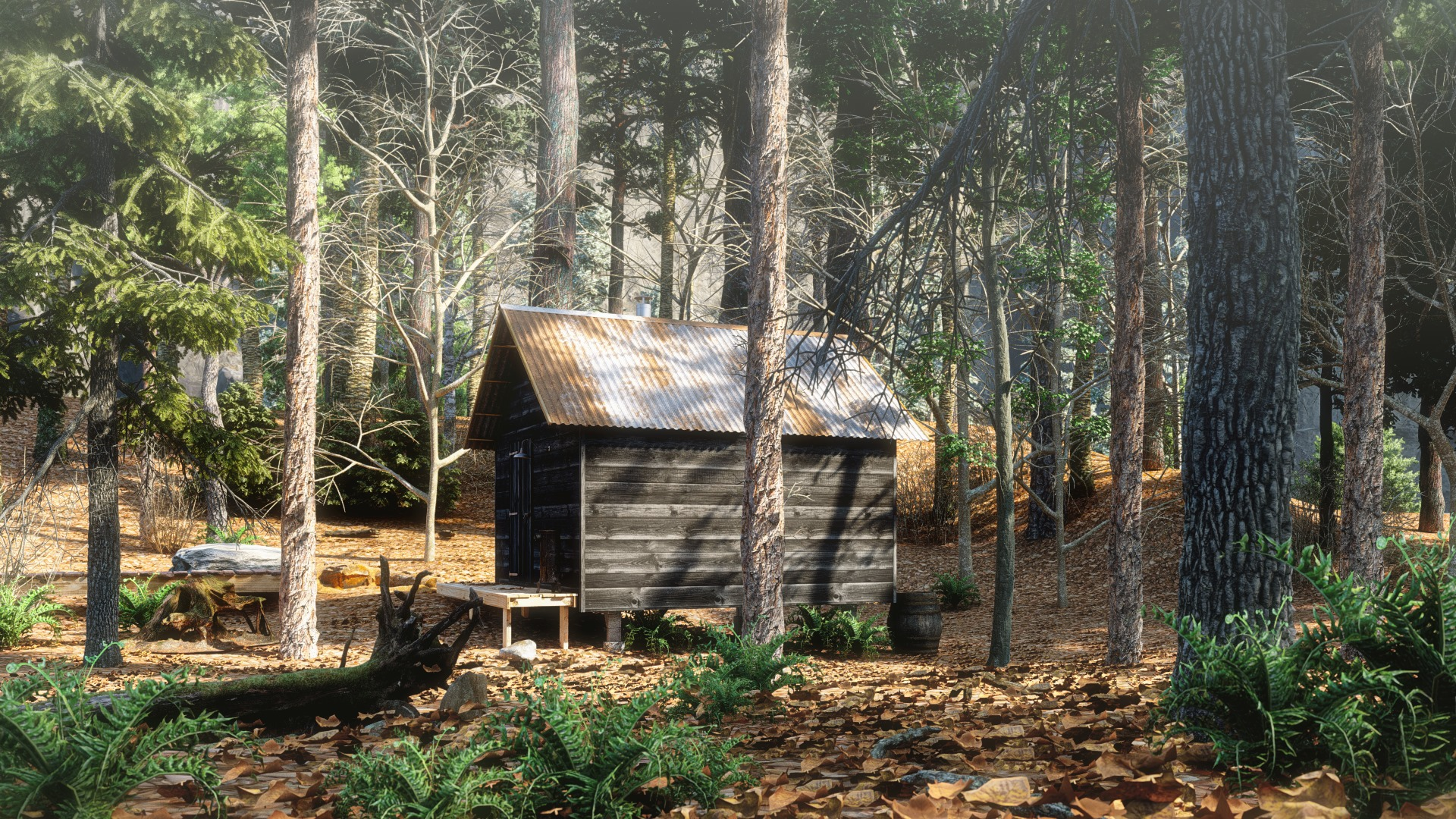 Cabin in the forest, rendered in Lumion by D.Wulf