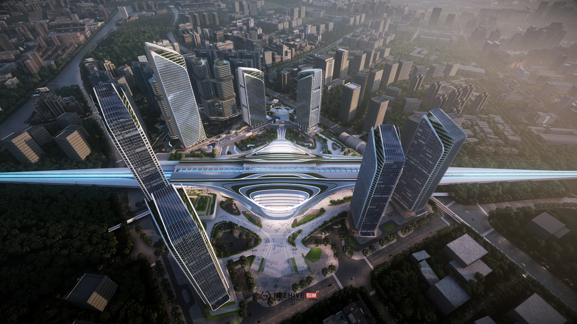 Humen High-Speed Rail Station Expansion Project Master Plan. Design and Project Architect: Aedas. Client: Poly Bay Area Investment and Development CO., LTD.