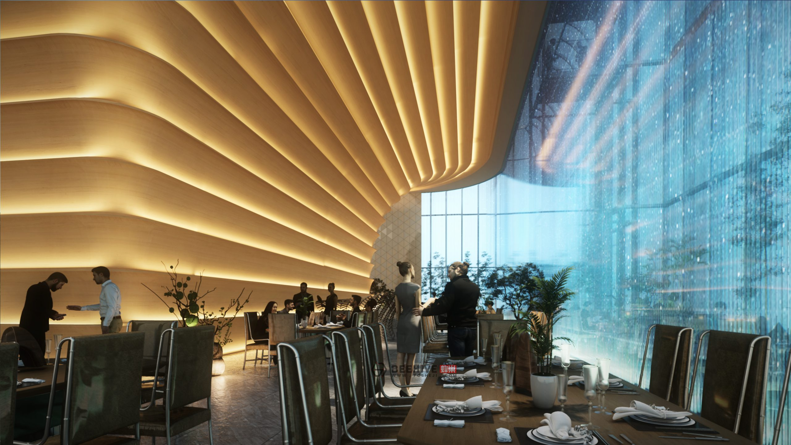 Nanjing Xin Jie Kou Suning Plaza. Design and Project Architect: Aedas. Client: Suning Real Estate Group CO., LTD.