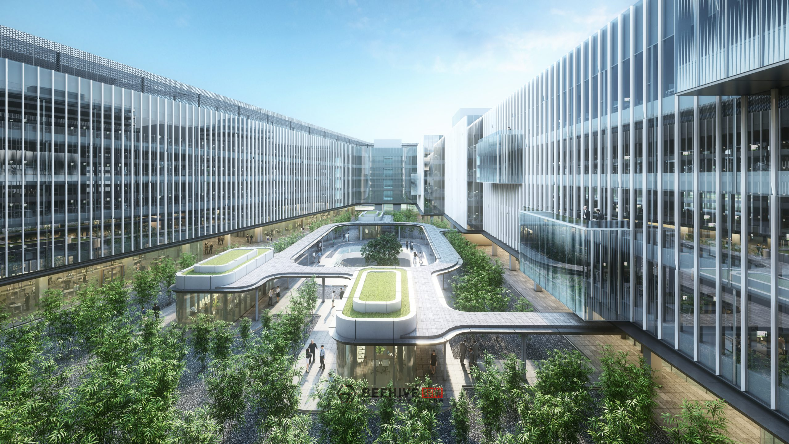 Headquarters and Industry Park for a Renowned Chinese Internet Company. Design and Project Architect: Aedas