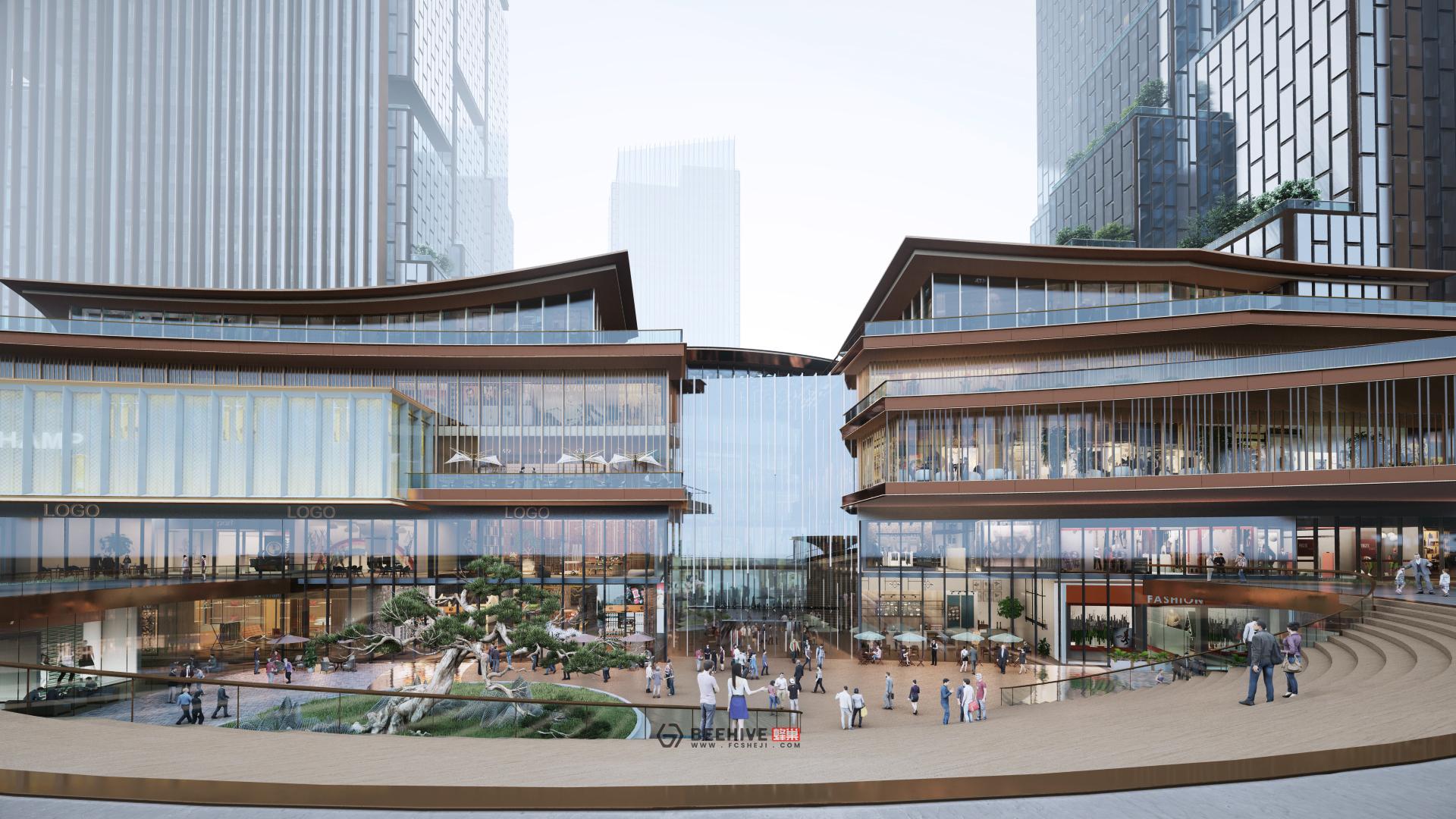Hangzhou Fuyang Plot 73 Core Area Concept Design. Design and Project Architect: Aedas.
