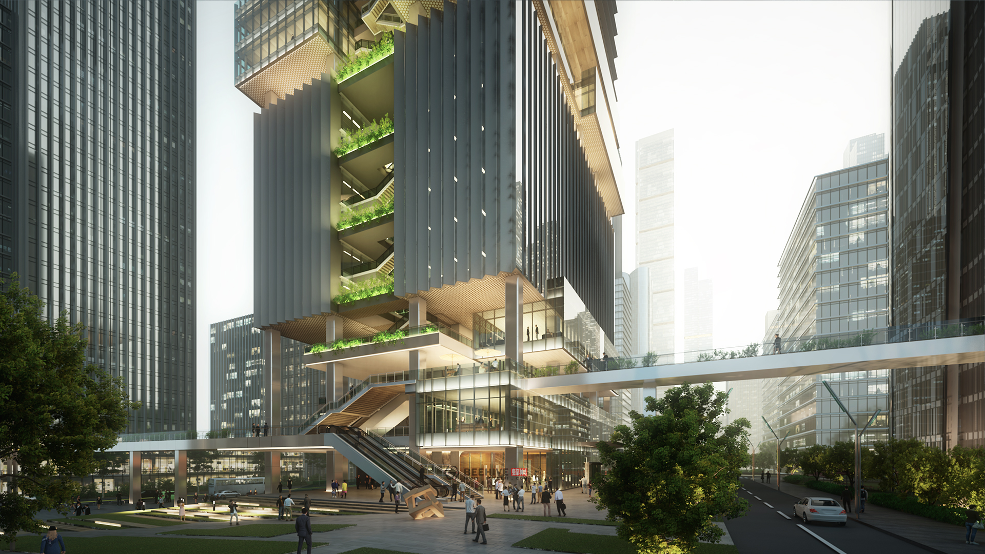 Shenzhen Transsion Tower. Design and Project Architect: Aedas. Client: Shenzhen Transsion Holdings.