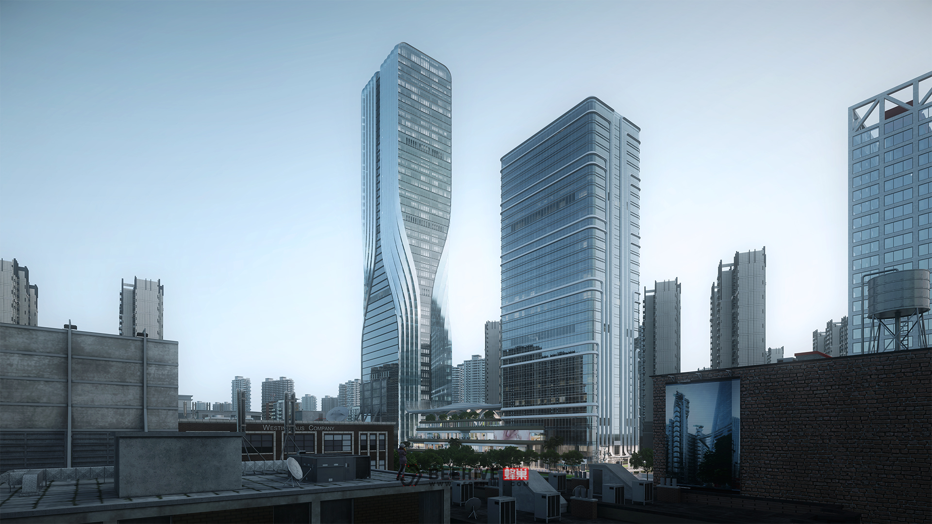 Wuhan Founder International Financial Center. Design and Project Architect: Aedas. Client: PKU Resources.