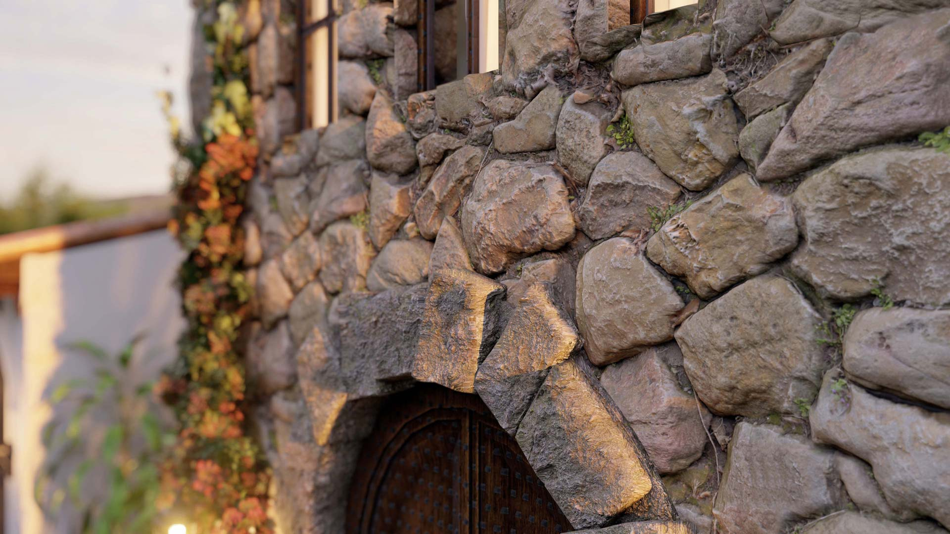 Close-up of Rock Wall | Lumion 10.3 3D Rendering Software