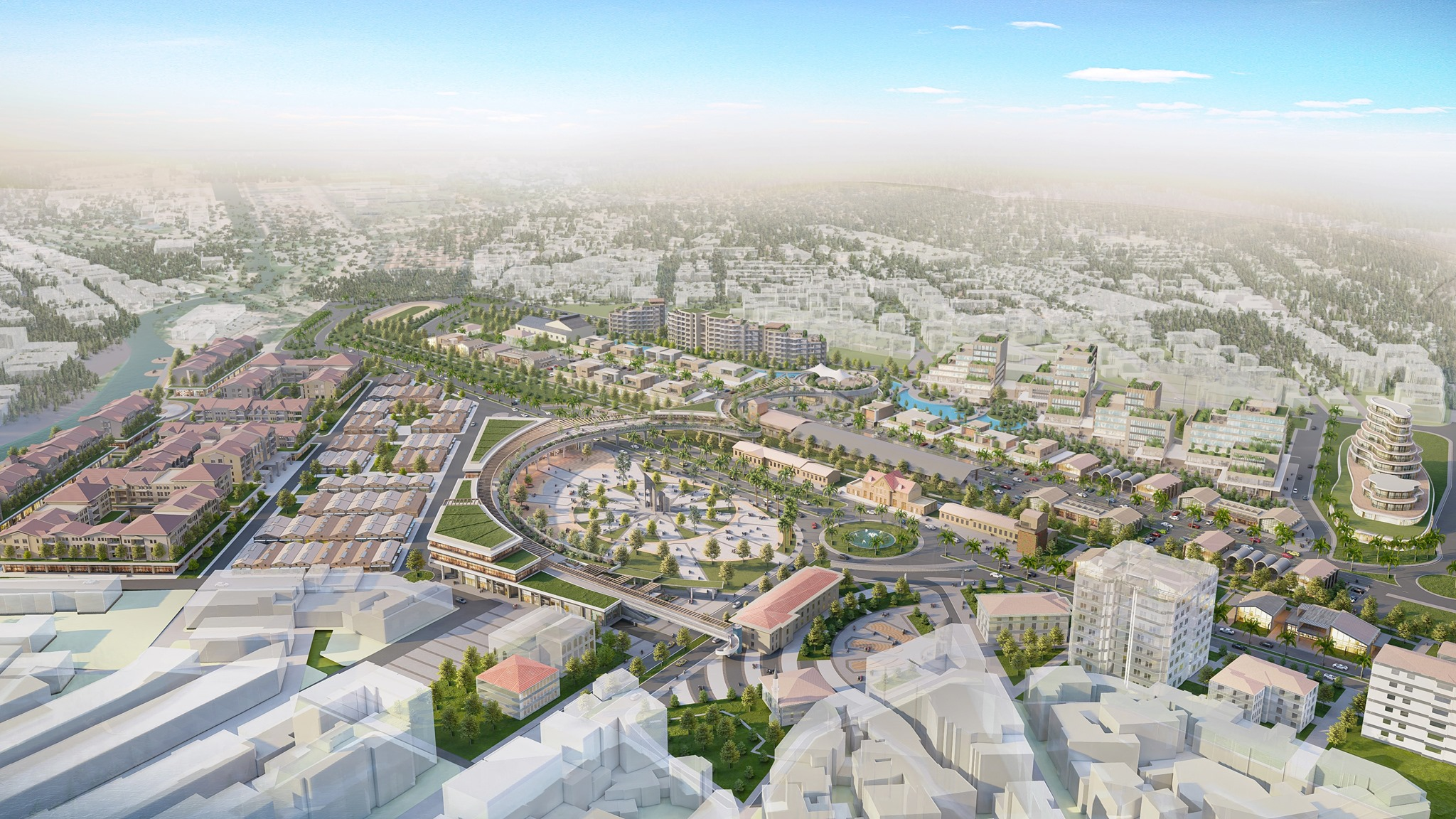 City Center visualization, rendered in Lumion 11 by Fatih Ekşi.  Project Evrenol Architects