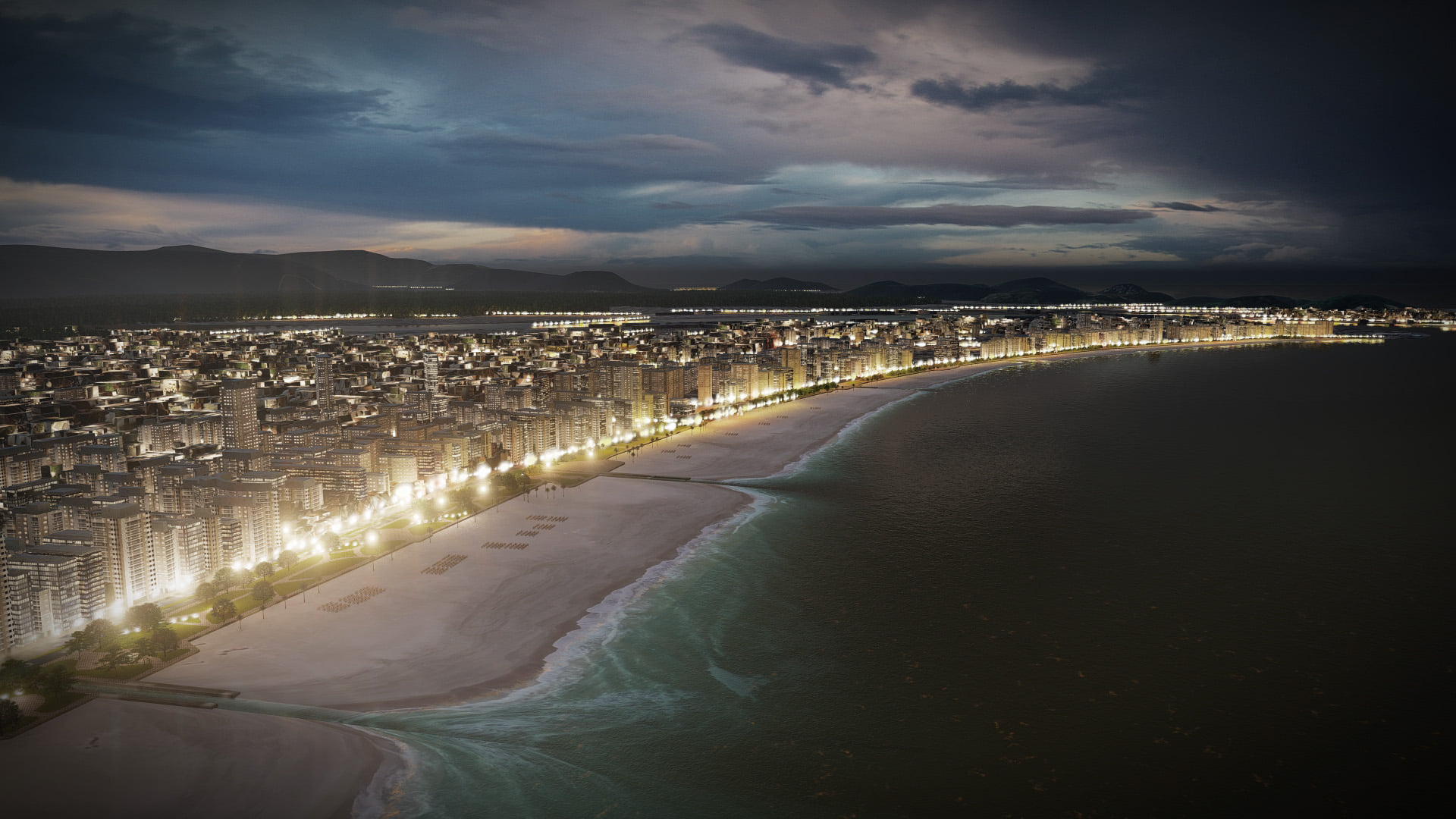 Coastline by Gilson Antunes, rendered in Lumion