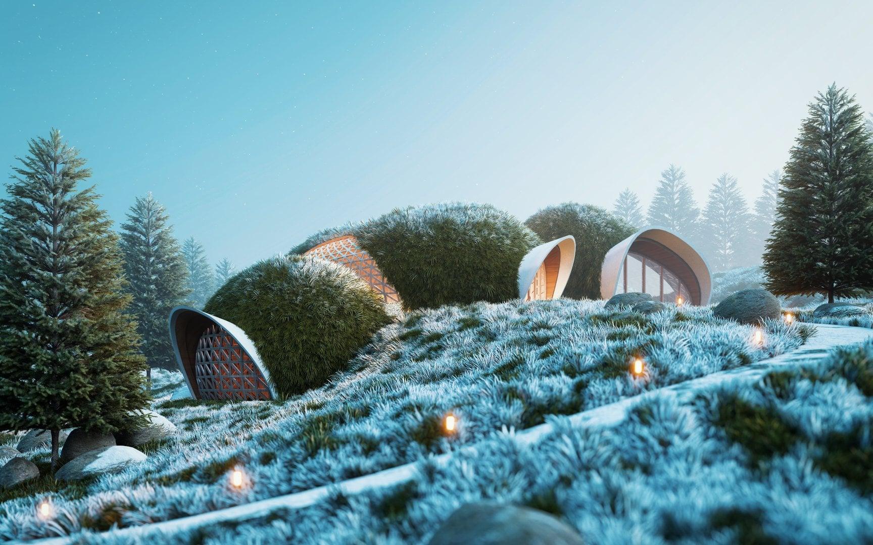 """""""Organic balance,"""" rendered in Lumion by Suraj Karki (@_yesk)."""
