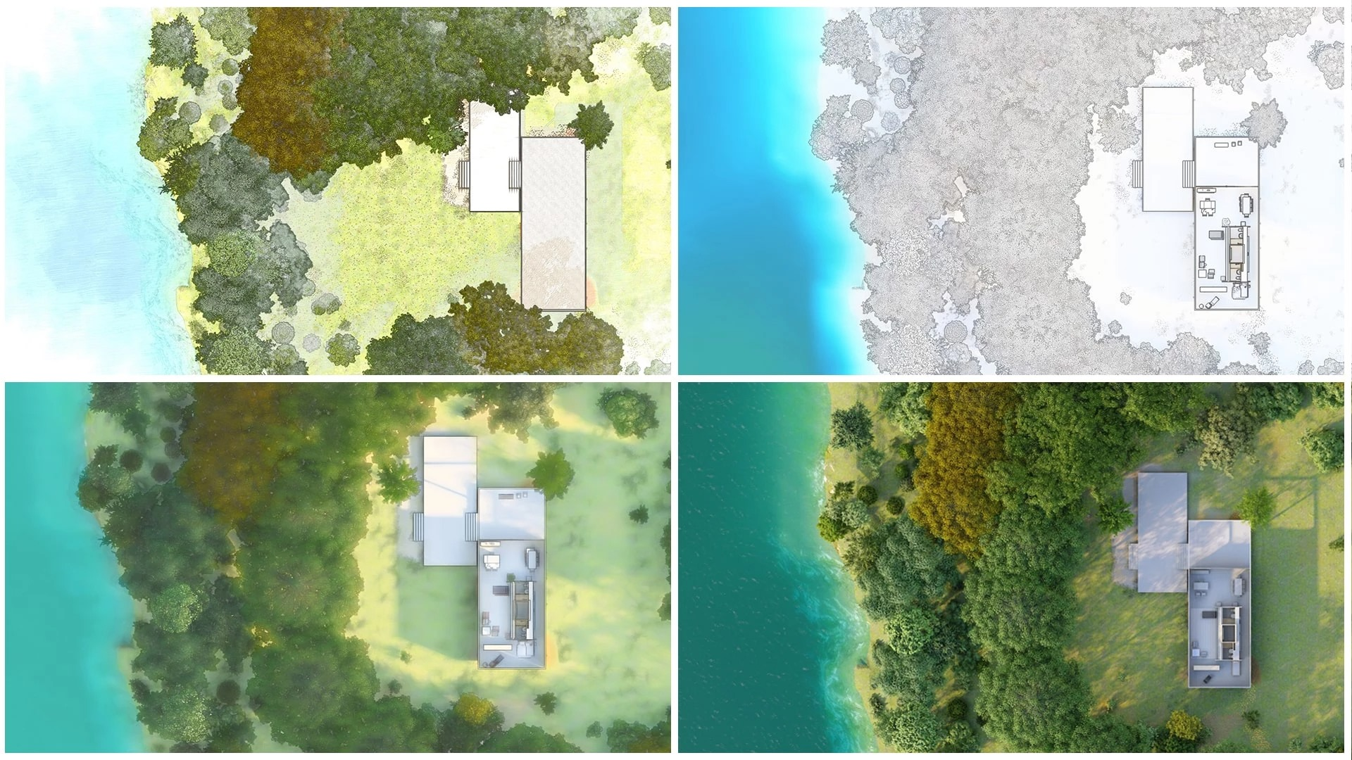 Orthographic views, rendered in Lumion by The Lumion Collective
