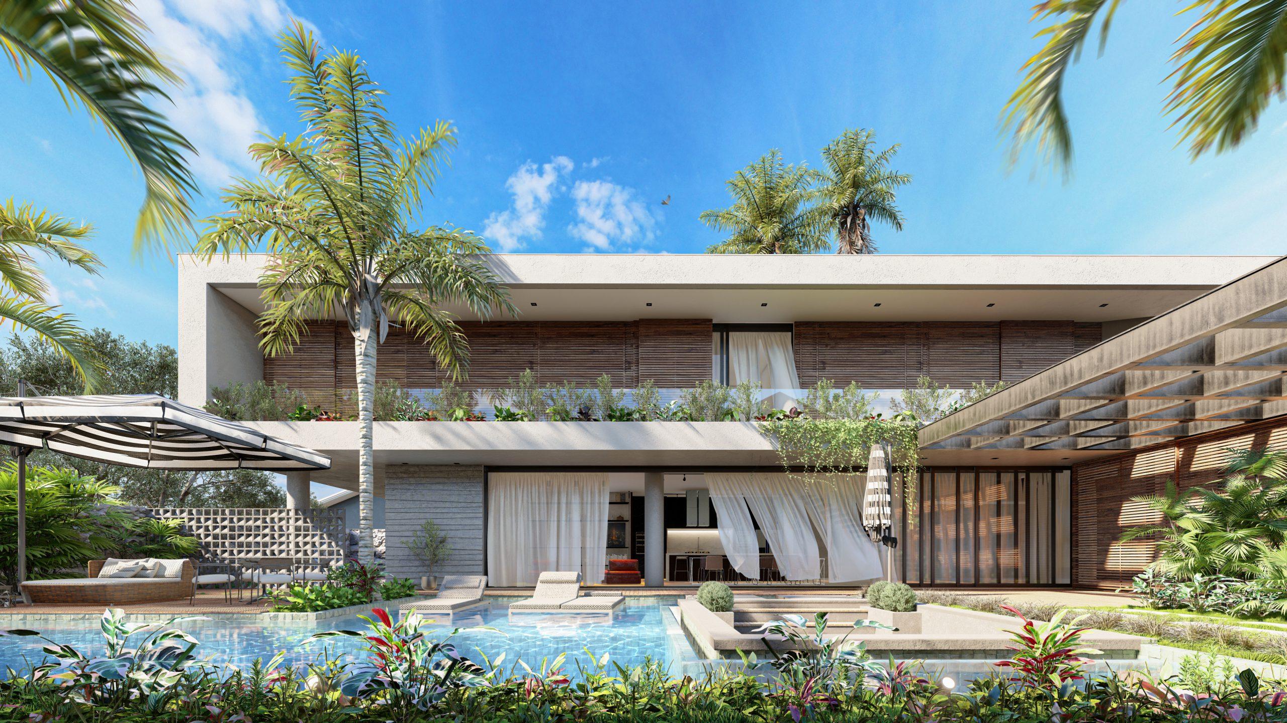 Yutaka House, rendered by Gui Felix. Project by Roberto Yutaka