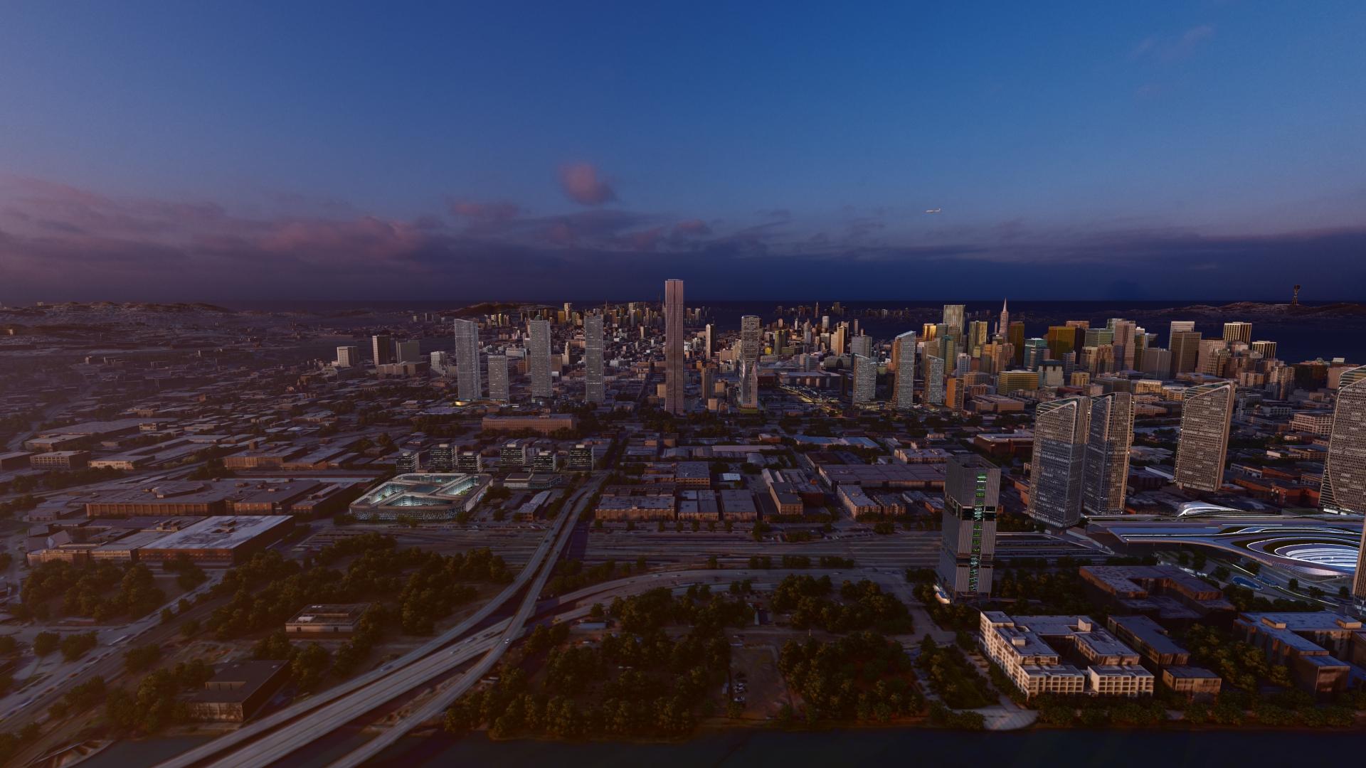 Aedas City - Skyline featuring all models from Aedas