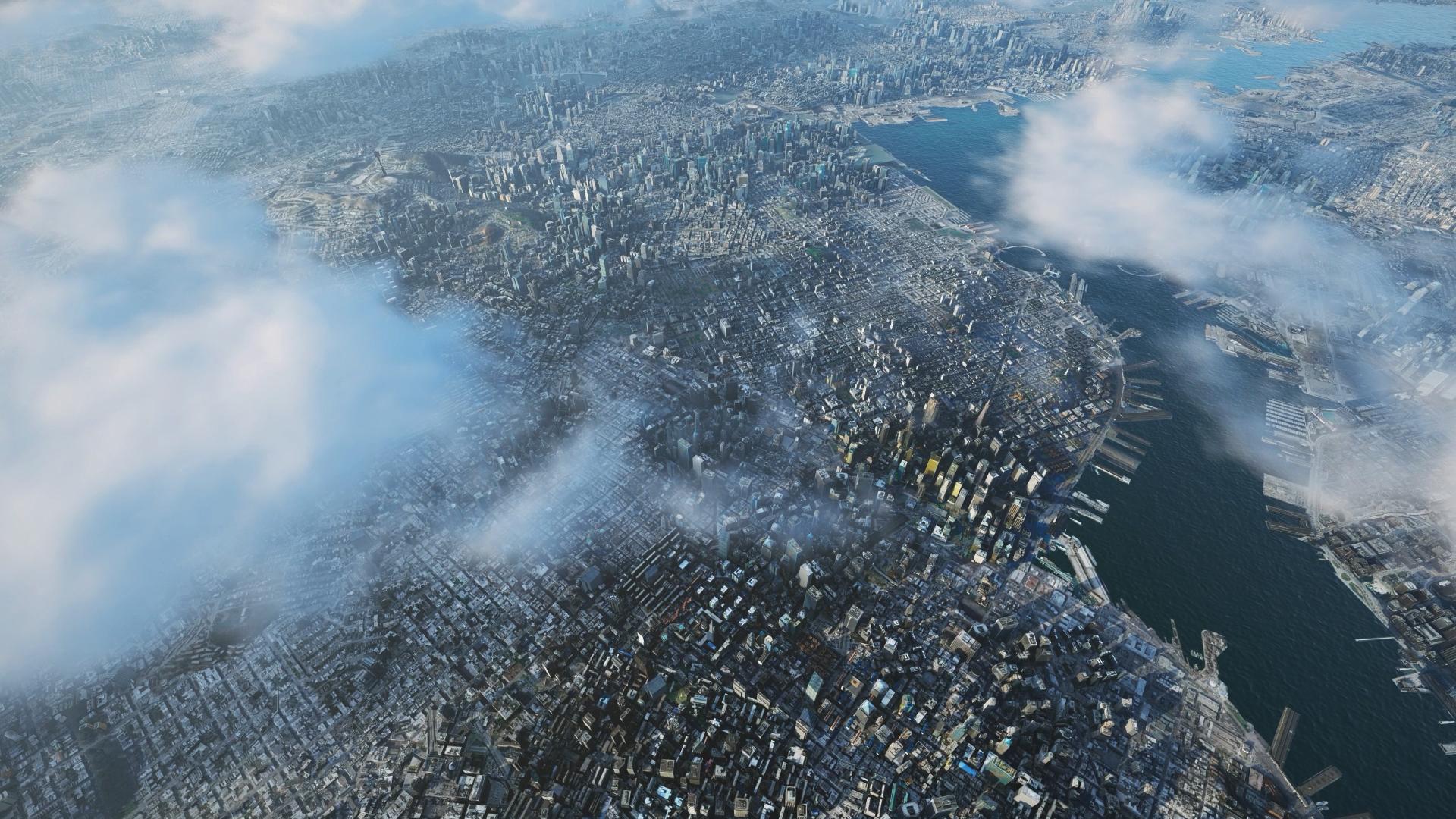 Aedas City, bird's-eye view. Rendered in Lumion 11 by Beehive. Architectural designs by Aedas.
