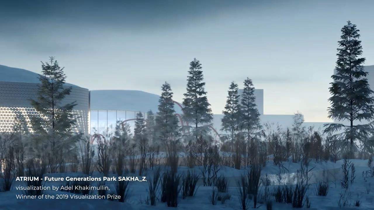 ATRIUM - Future Generations Park SAHKA_Z, visualization by Adel Khakimullin, Winner of the 2019 Visualization Prize
