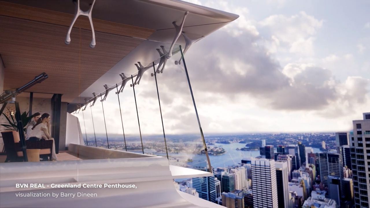 BVN REAL - Greenland Centre Penthouse, visualization by Barry Dineen.