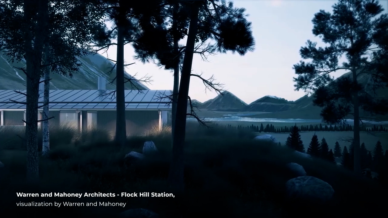 Warren and Mahoney Architects - Flock Hill Station, visualization by Warren and Mahoney.